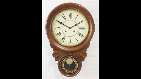 clock strike sound antique dual  face drop dial