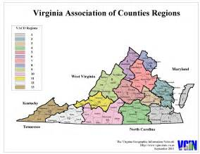 Virginia Map with Counties