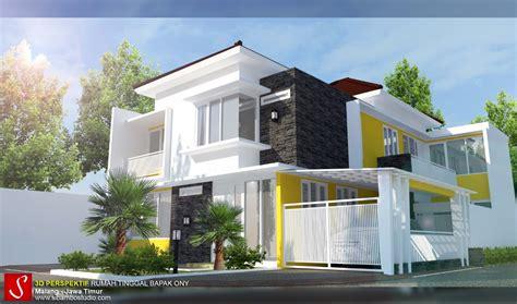 gambar desain rumah minimalis modern  lantai
