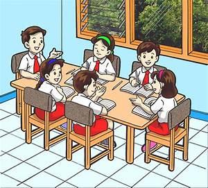 Gambar Kartun Belajar Di Sekolah
