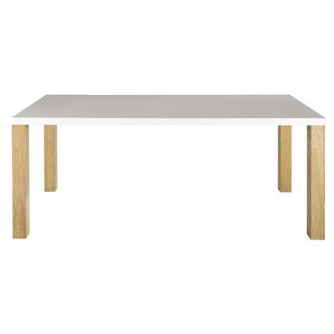 table de salle 224 manger en bois blanche l 200 cm austral maisons du monde