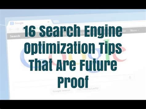 search engine optimisation strategies 16 search engine optimization tips that are future proof