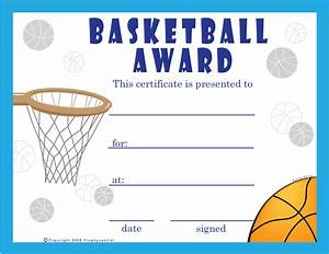 9 best images of basketball certificate templates free printable basketball award certificate for Free basketball certificates