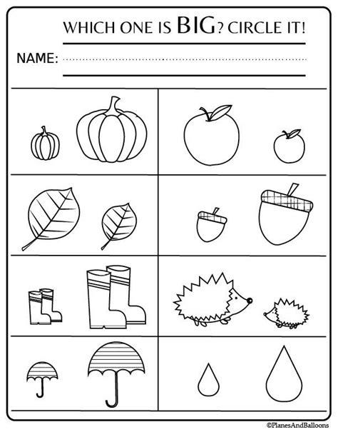 preschool worksheets  activities  fall