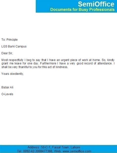 application letter   day leave