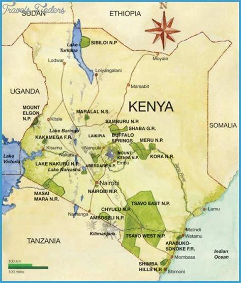 kenya map tourist attractions travelsfinderscom