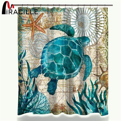 sea turtle shower curtain miracille sea turtle waterproof shower curtain octopus