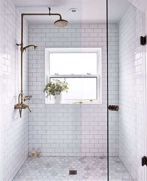 walk in shower tile the subway tile bathroom a style bathroom