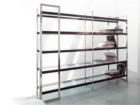 Steel Bookcases by Stainless Steel Bookcase Dipsy By Gallotti Radice Design