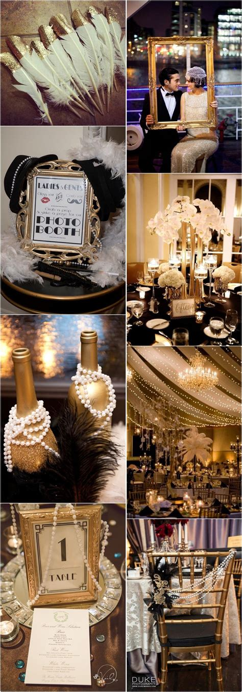 Vintage Weddings 25 Black and Gold Great Gatsby Inspired