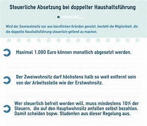 Fahrtkosten Steuerlich Absetzen : haupt und nebenwohnsitz rechtliche regelungen wohnung ~ Lizthompson.info Haus und Dekorationen