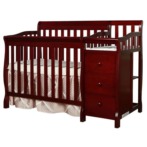 mini crib with changing table 4 in 1 mini convertible crib and changer on me