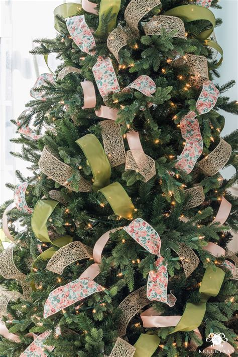 how to put ribbon on christmas tree how to decorate a tree with ribbon kelley nan