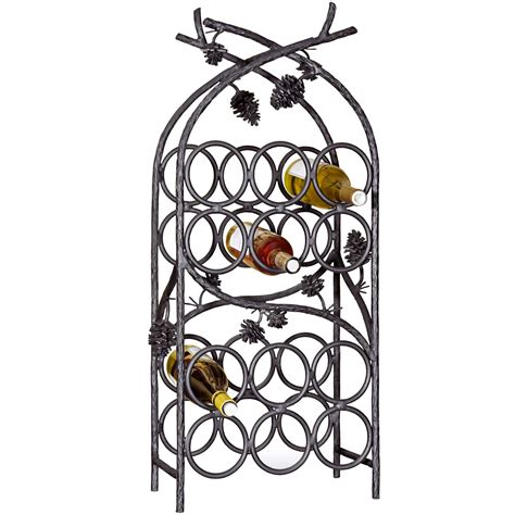 wrought iron wine racks wrought iron piney woods 12 bottle wine rack by mathews co