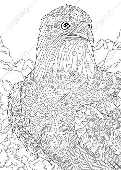 coloring pages  adults eagle hawk falcon independence day art adult coloring pages
