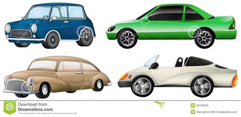 Four Different Types Of Cars Stock Vector