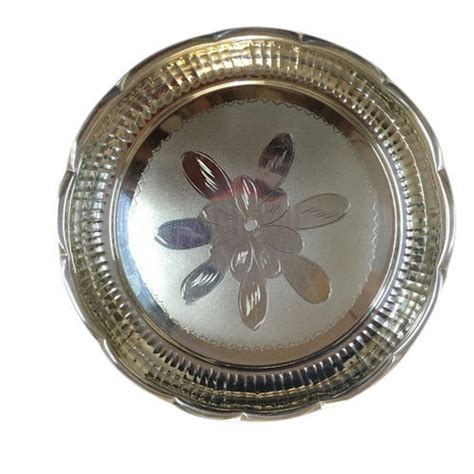 silver pooja products engraved silver thali manufacturer
