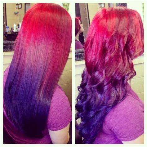 astonishing pink purple ombres  haircut web