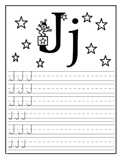 letter writing worksheets for preschool letter j worksheet for kindergarten preschool and 1 st 270