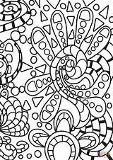 Coloring Abstract Doodle Printable Doodles Drawing Paper Adults Games Categories sketch template