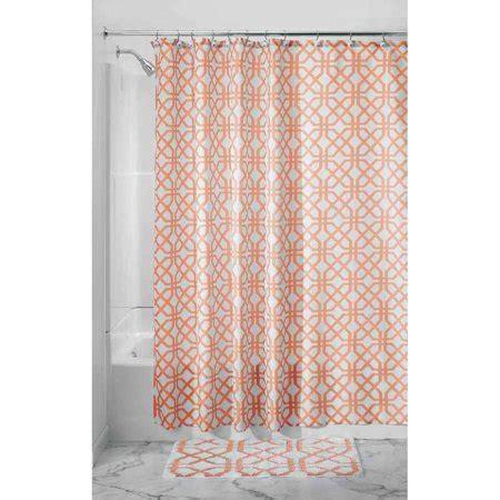 fabric shower curtains walmart interdesign trellis fabric shower curtain walmart