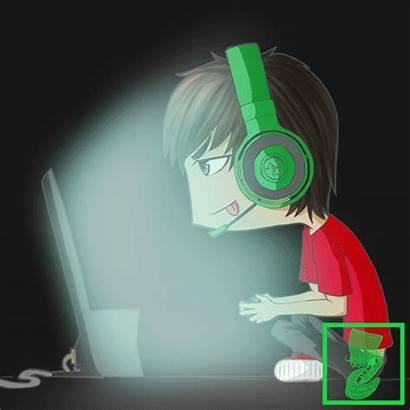 Gamer Animated Gaming Chibi Casual Anime Kudo