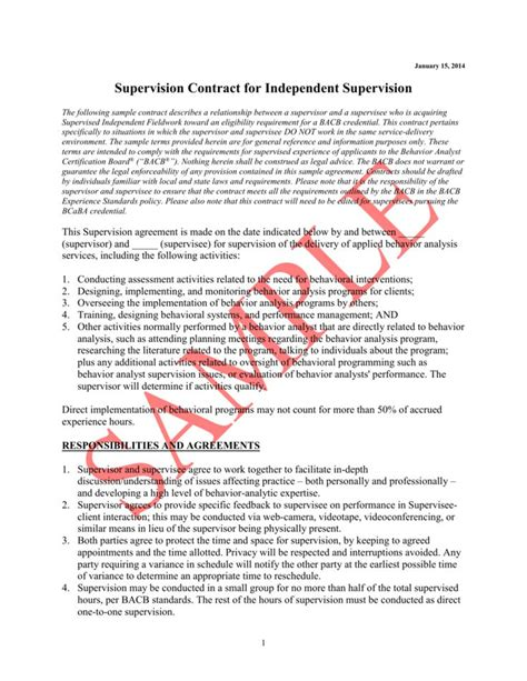 sample contract independent supervision lcsw supervision supervision contract