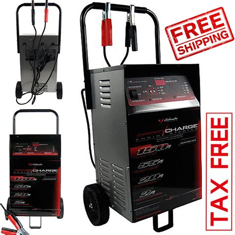 portable car battery charger wheeled engine start automatic booster garage  ebay