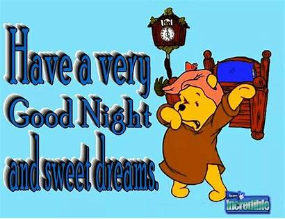 Night Clipart Quotes Pooh Dreams Bear Sweet