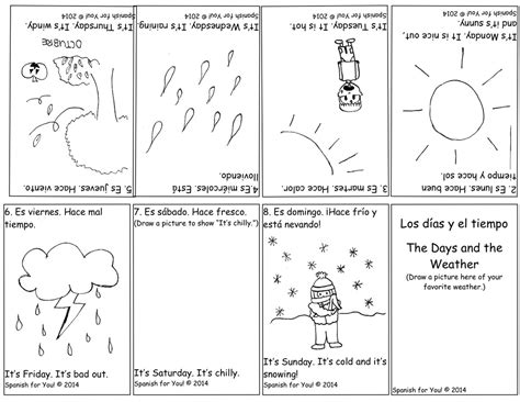 free for you days and weather bilingual booklet