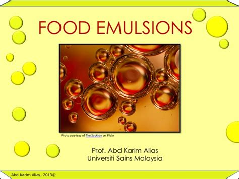 cuisine emulsion food emulsion