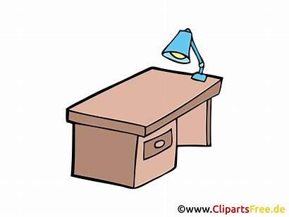 Schreibtisch Clipart Grafik Zeichnung Bureau Kostenlos Bild