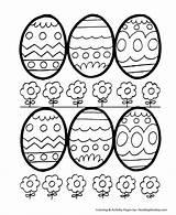 Coloring Easter Egg Eggs Decorative Honkingdonkey Easy Sheets sketch template