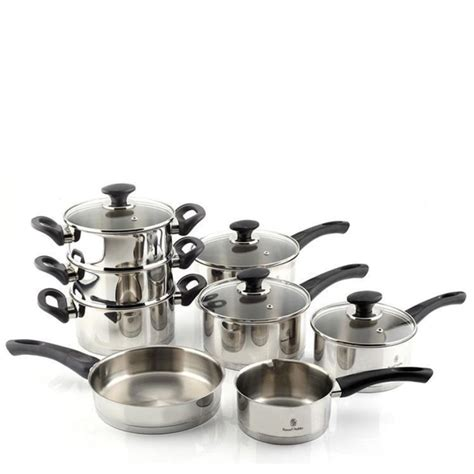 kitchen cookware  gadgets  nero  piece stainless steel cookware set turquoise turkish