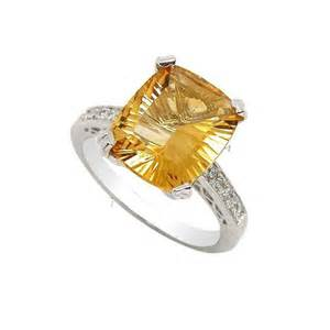 citrine wedding band 5 carat citrine gemstone engagement ring on silver jewelocean