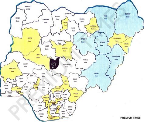 map  nigeria  proposed  national conference