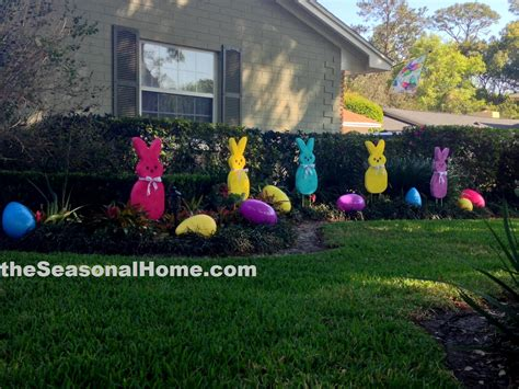 a patch o peeps in the easter garden 171 the seasonal home