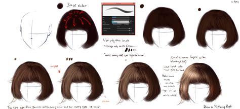easy realistic hair tutorial  ryky  deviantart