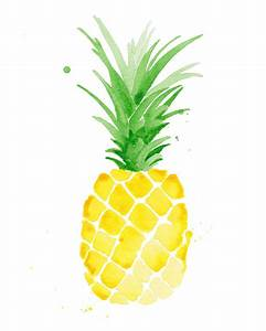 "Ananas Piña aquarelle imprimer 8 x 10"" | food | Pinterest ..."