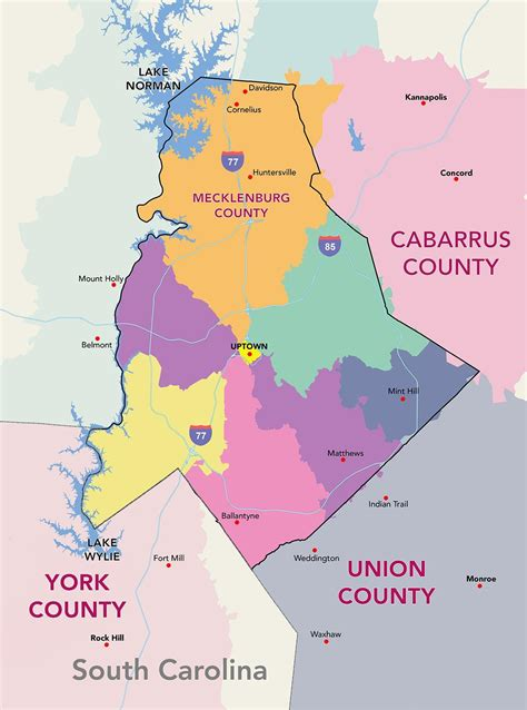 Charlotte neighborhood map - Map of Charlotte ...