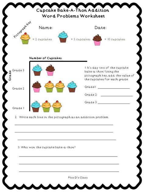 cupcake math worksheets grade   ds class tpt