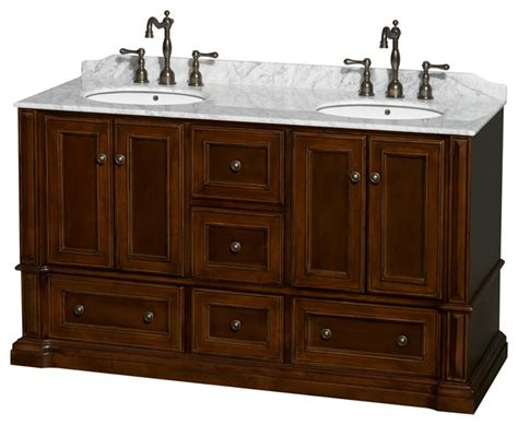 drop in sink vanity top rochester 60 quot cherry vanity white marble