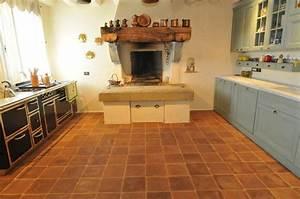 Terracotta Floors - Mediterranean - Kitchen - san