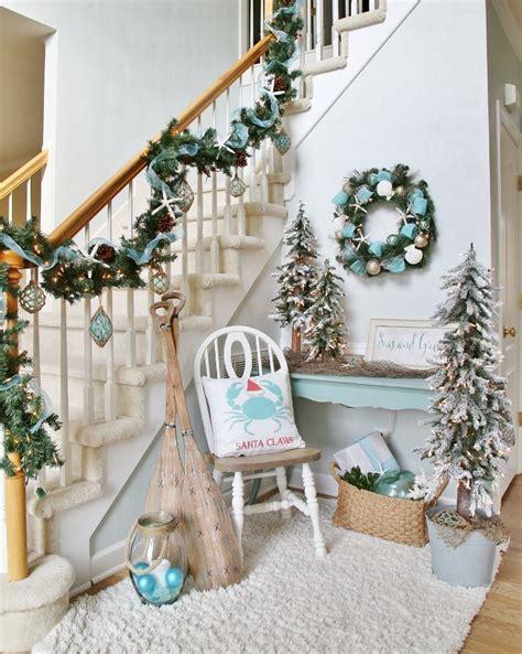 coastal christmas decor ideas  pinterest