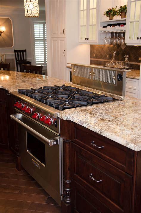 range in island kitchen creative kitchen design manasquan new jersey by design 4494