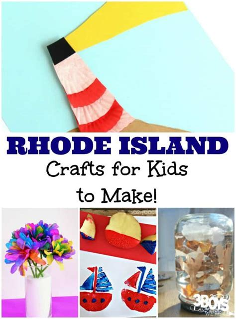 Rhode Island Crafts for Kids ? 3 Boys and a Dog ? 3 Boys