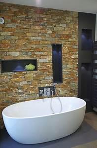Parement Salle De Bain : salle de bain parement pierres contemporain salle de ~ Dailycaller-alerts.com Idées de Décoration
