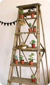 Sellette Pour Plante : escabeau pour plantes ~ Premium-room.com Idées de Décoration