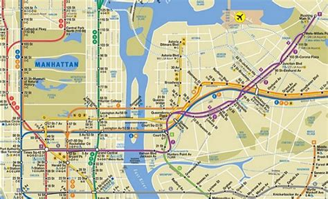 1 Train Nyc Map.Nyc Map Subway Number 1 Train