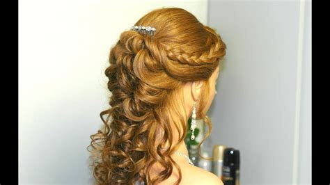 curly prom bridal hairstyle  long hair  french